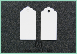 Label hanger wit kraft 4 cm x 2 cm (set van 10 stuks)