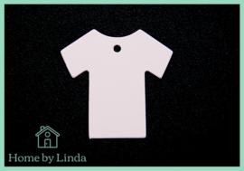 Label baby roze kraft 5 cm (set van 10 stuks)