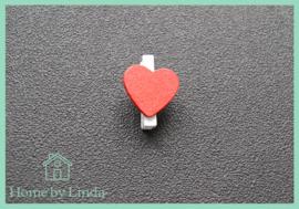 Mini knijpers hartjes 2,5 cm (set van 10 stuks)