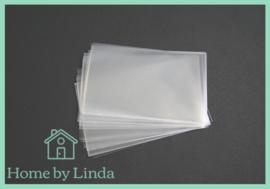 Cellofaan zakjes transparant 9 cm x 15 cm (set van 10 stuks)