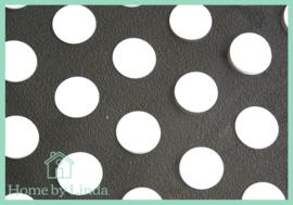 Cellofaan blokzakjes witte stippen 13 cm x 21 cm (set van 10 stuks)