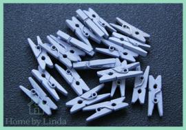 Mini knijpers lila 2,5 cm (set van 20 stuks)