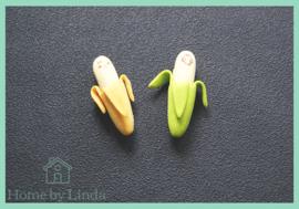 Bananen Gummetjes 4,5 cm x 1,5  cm (set van 2 stuks)
