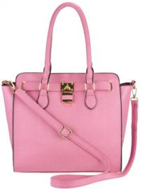 Nicole Brown Schouderhandtas roze, ecoleder 31 x 32 cm FB75
