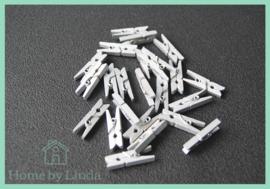 Mini knijpers zilver 2,5 cm (set van 20 stuks)