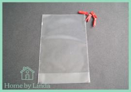 Cellofaan blokzakjes transparant 11,5 cm x 19 cm x 4 cm (set van 10 stuks)