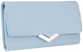 Nicole Brown Portemonnee blauw, ecoleder PS173