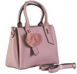 Nicole Brown Schouderhandtas roze, ecoleder 21 x 26 cm FB330