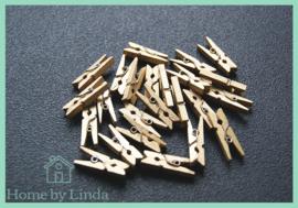 Mini knijpers goud 2,5 cm (set van 20 stuks)