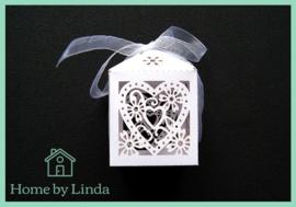 Geschenkdoosjes wit 5 cm x 7,5 cm x 5 cm (set van 5 stuks)