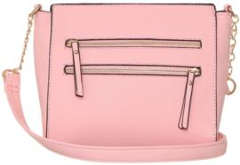 Nicole Brown Schoudertas roze, ecoleder 21 x 23 cm FB134