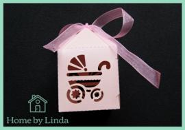 Geschenkdoosjes roze 5 cm x 7,5 cm x 5 cm (set van 5 stuks)