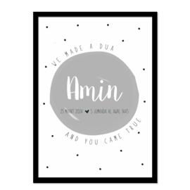 Geboorteposter |  Amin
