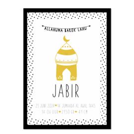 Geboorteposter | Jabir
