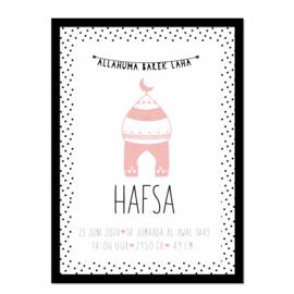 Geboorteposter | Hafsa