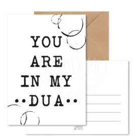 Kaart | You are in my dua