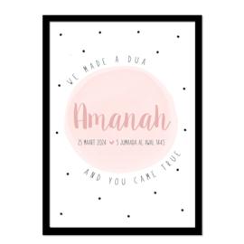 Geboorteposter | Amanah