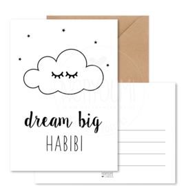 Kaart | Dream big habibi
