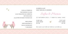 Geboortekaart | Safae & Marwa