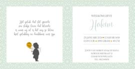 Geboortekaart | Hakim