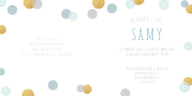 Geboortekaart   Samy