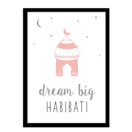 Poster | Dream big  habibati
