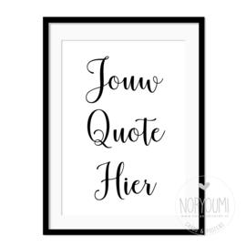 Poster | Jouw Quote