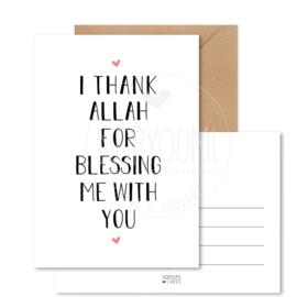Kaart | I thank Allah...