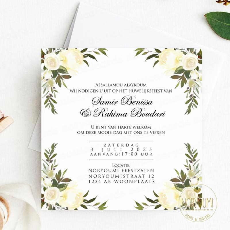 Islamitische Uitnodiging Bruiloft