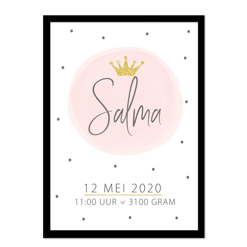 Geboorteposter | Salma