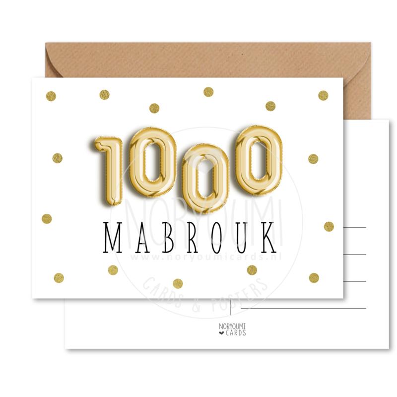 Kaart | 1000 mabrouk