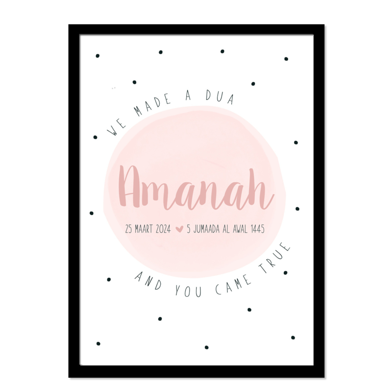 Geboorteposter   Amanah