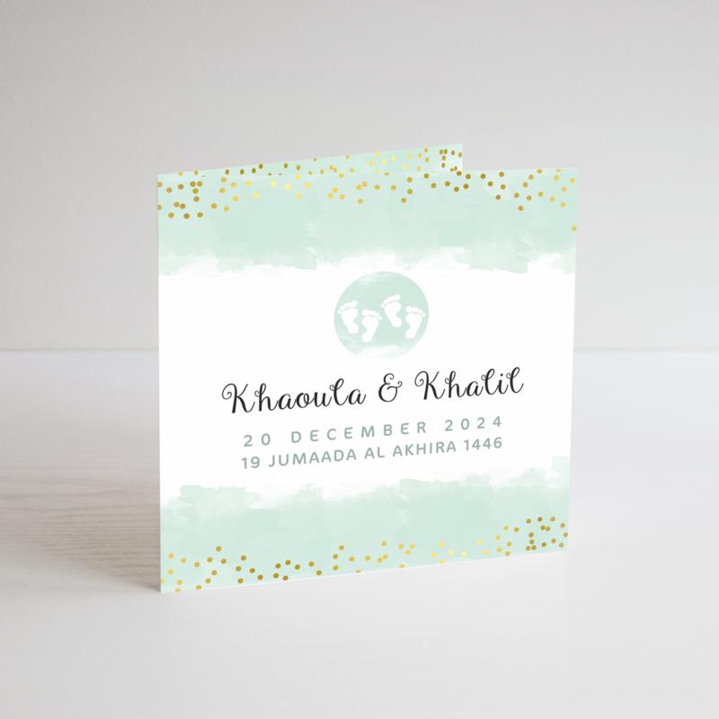 Geboortekaart | Khaoula & Khalil