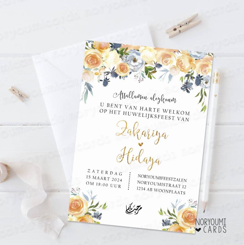 Mooie Islamitische Uitnodigingskaarten Huwelijk