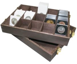 Houten box voor Munthouders