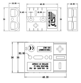 SB connector 50A grijs 16mm²