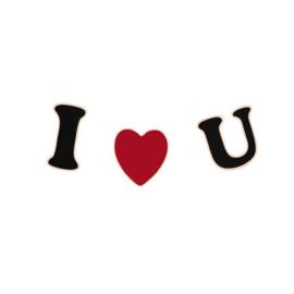 I LOVE U PIN