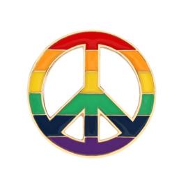 RAINBOW PEACE SYMBOL (LGBT) PIN