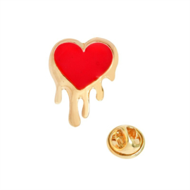 HEART DRIPPING GOLD PIN
