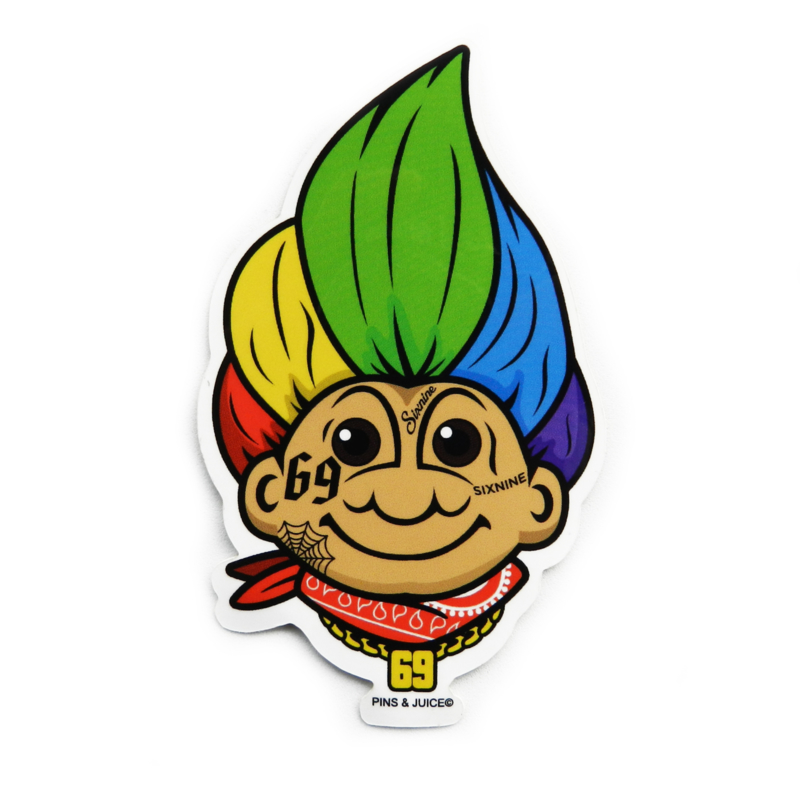 YUNG TROLL 6IX9INE STICKER  2-PACK