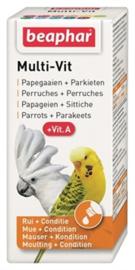 Beaphar multi-vit papegaai en grote parkieten 20ml