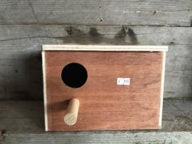 Nestkast 15x15x20 voor oa. grasparkiet