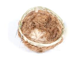 Kanarie nest met haakjes cocos