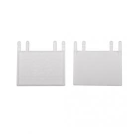 Klepje wit voor kweekfront - set 2 stuks