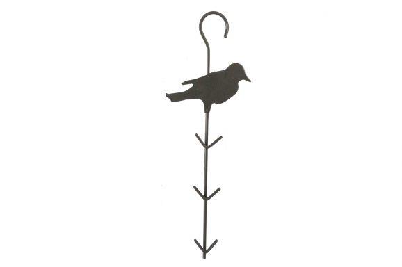 Voederkapstok + vogel 30cm