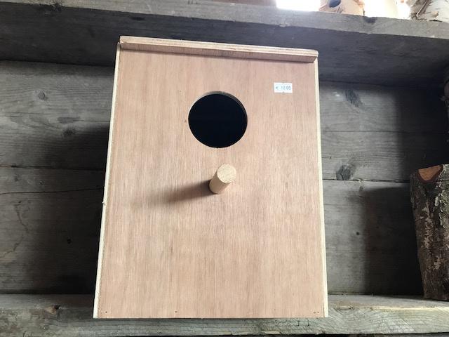 Nestkast 23x23x30 voor oa. valkparkieten