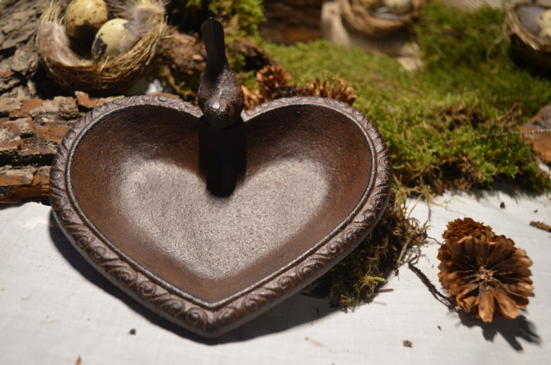 Vogelbad hart