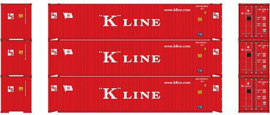 H0   Athearn ATH14282 - Container 3 Pack 45' – K-Line