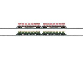 N | Minitrix 15071 - Set lageboordwagens AAE cargo (MHI model)