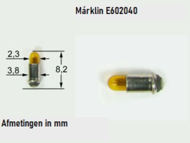 H0 | Märklin E602040.1 - Gloeilamp geel, 16V, steek (1 stuks)
